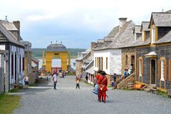 Louisbourg堡垒  库存照片