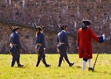 louisbourg żołnierzy. Fotografia Royalty Free