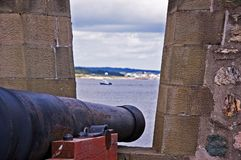 Louisbourg. Fortress de Louisbourg in Cape Breton, Nova Scotia royalty free stock photography