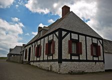Louisbourg. Fortress de Louisbourg in Cape Breton, Nova Scotia stock photography