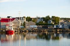 Louisbourg hamn - Nova Scotia - Kanada arkivbilder