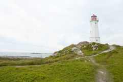 Louisbourg Lighthouse - Nova Scotia - Canada Royalty Free Stock Photography