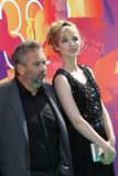 Louise Bourgoin and Luc Besson Royalty Free Stock Image