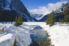 louise jeziorna zima Zdjęcie Royalty Free