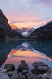Louise rano jezioro Fotografia Stock