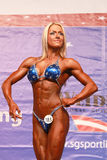 Louise Rogers. Physique athlete from the UK, poses at the IFBB World Bodyfitness Championship in Cernobbio, Italy; October 18, 2009 Royalty Free Stock Image