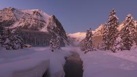 Louise zimy lake zdjęcia royalty free