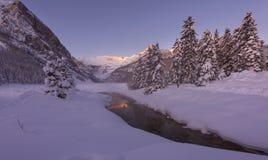 Louise zimy lake zdjęcie royalty free