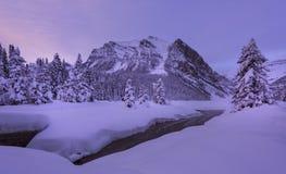 Louise zimy lake zdjęcia stock
