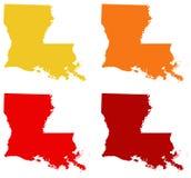 Louisiana översikt - tillstånd i den sydöstliga regionen av Förenta staterna Royaltyfri Foto