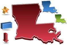 Louisiana 3D Royalty Free Stock Image