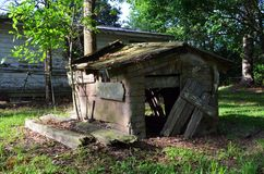 Louisiana Abandoned Home 06 Doghouse out back Stock Photo