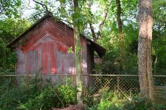 Louisiana Abandoned Home 02 Red Shed Stock Photography