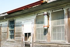 Louisiana Abandonment. Details of an abandoned wooden building in South Louisiana Stock Photo