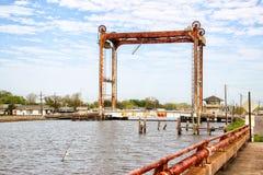 Louisiana-Bayou-Brücke lizenzfreies stockfoto