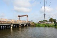 Louisiana-Bayou-Br?cke lizenzfreies stockbild