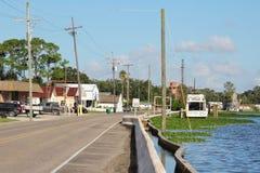 Louisiana-Bayou-Gemeinschaft stockfoto