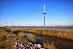 Louisiana Bayou. The Louisiana bayou in the saltmarsh area royalty free stock images