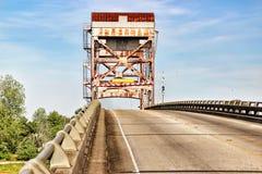 Louisiana Bridge. A lift bridge at Larose, Louisiana royalty free stock photo
