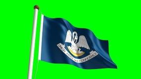 Louisiana flag. Seamless  green screen stock video