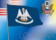 Louisiana flag, us state Stock Photos