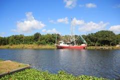 Louisiana-Garnelen-Boot lizenzfreies stockfoto