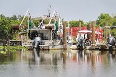 Louisiana-Garnelen-Boot stockfotografie
