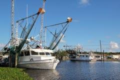 Louisiana-Garnelen-Boot stockfoto
