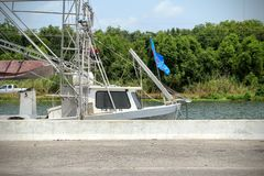 Louisiana-Garnelen-Boot stockbild