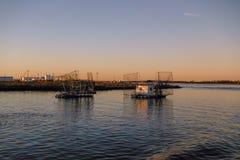 Louisiana-Garnelen-Boote stockbilder