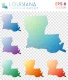 Louisiana geometriska polygonal översikter, mosaikstil Fotografering för Bildbyråer