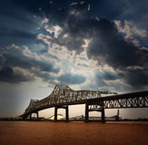 Louisiana Horace Wilkinson Bridge Mississippi river. Louisiana Baton Rouge Horace Wilkinson Bridge Interstate i10 over Mississippi river USA royalty free stock photos
