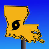 Louisiana hurricane sign Stock Image