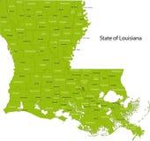 Louisiana map stock photos
