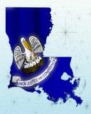 Louisiana Map Stock Photo