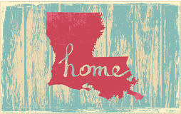 Louisiana nostalgic rustic vintage state vector sign. Rustic vintage style U.S. state poster in layered easy-editable vector format Stock Photos