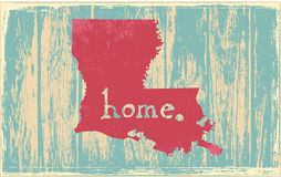 Louisiana nostalgic rustic vintage state vector sign. Rustic vintage style U.S. state poster in layered easy-editable vector format Royalty Free Stock Photography