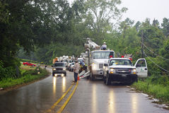 Louisiana Power. Electric utilities work to restore power to the residents of Louisiana in the aftermath of Hurricane Gustav.  Photo taken September 3, 2008