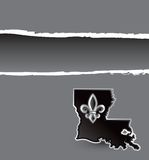 Louisiana ripped banner Stock Photo