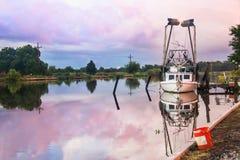 Louisiana Shrimp Boat. A shrimp boat on the Louisiana Bayou Royalty Free Stock Photo