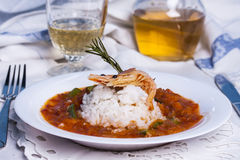 Louisiana soup gumbo with shrimp Stock Images