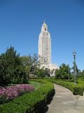 Louisiana State Capitol Building. The 450 ft. Louisiana State Capitol Building, tallest capitol bldg. in U.S., built in 1930 portrait orientation royalty free stock photography