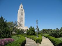 Louisiana State Capitol Building. The 450 ft. Louisiana State Capitol Building, tallest capitol bldg. in U.S., built in 1930 landscape orientation Royalty Free Stock Image