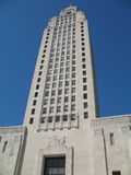 Louisiana State Capitol Building. Tower portion of the Louisiana state capitol building, art deco style built in 1930, tallest capitol building in U.S royalty free stock photography