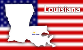 Louisiana state contour Stock Photo
