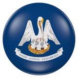 Louisiana State flag button Royalty Free Stock Photos