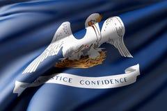 Louisiana State flag Royalty Free Stock Photography