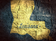 Louisiana state map Royalty Free Stock Images