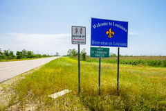 Louisiana state sign Royalty Free Stock Photography