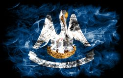 Louisiana state smoke flag, United States Of America.  royalty free stock photo